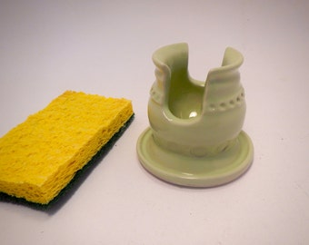 Lime Green Sponge Holder-Busines Card Caddy
