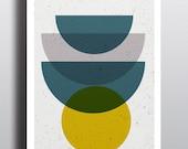 MID CENTURY MADNESS // Poster Abstract art, 18x24, minimalist art print, geometric print, mid century, Scandinavian style