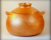 Handmade Micaceous Clay Casserole, 4.5 qt. Soup Pot, Bean Pot, Rice Pot, Ceramic Pot, Stew Pot, Chili Pot, Handmade Pottery, Kitchenware