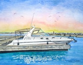 Custom Painting Watercolor Original Art from your special photo 11 x 14 with mat