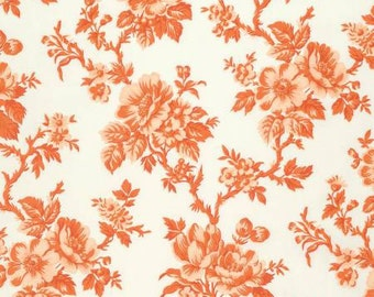 NEW Candelabra by Verna Mosquera for Free Spirit Shadow Rose in Orange 1 yard