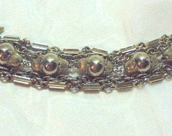 Multi Chain Link Bracelet by Coro - Vintage