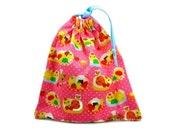 Chihuahua Dog Bag Drawstring Pouch Chihuahua Chef Hot Pink Polka Dot Pouch Kawaii Japanese Drawstring Bag Small Tote Bag Makeup Bag