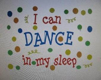 Dance Dancing Dancer Pillowcase-Custom Embroidered-Free Personalizing