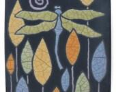 Dragonfly Tile,Home decor,Ceramic handmade tile, a 4x4 inch raku art tile,wall art, handmade tile