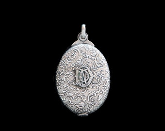Antique French Mirror Slide Locket