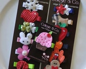 Toddler Hair Clips - Bows - Infant Hair Clips - Baby Hair Clips - GIrl Hair Clips - Holiday Year Round Clip Pack - Hair B
