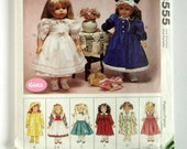 """Clothes for 18"""" Doll - McCalls 8555 - Vintage Sewing Pattern"""