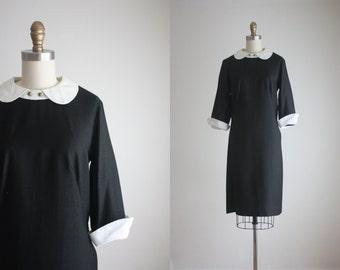 1960s peter pan collar shift dress