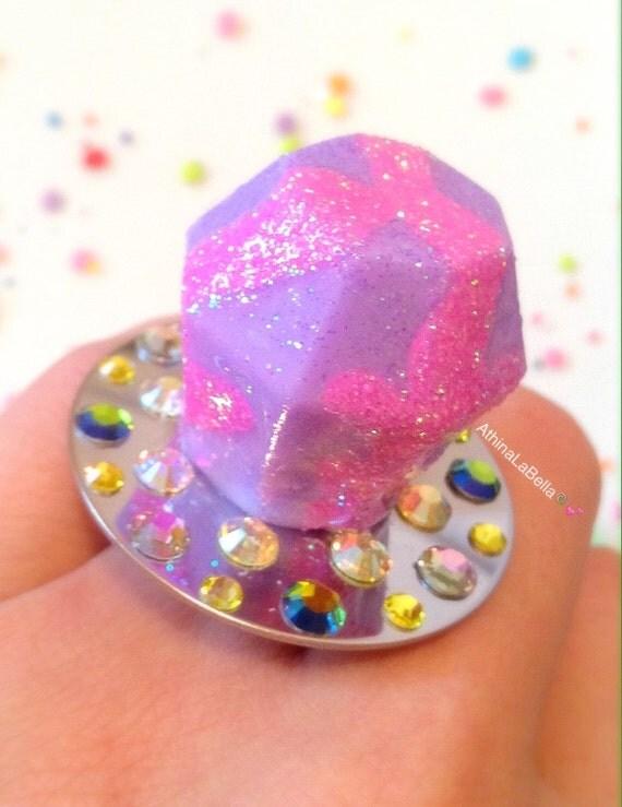 ring pop resin jewelry pastel jewelry kawaii