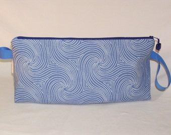SPECIAL PRICE - Blue Swirls Anna Clutch