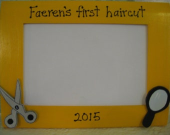 First haircut frame children's personalized picture frame