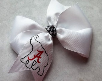 Football Team Alabama Boutique Hair Bow for girls