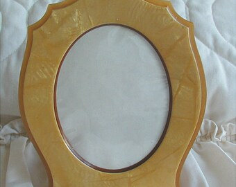 Art Deco Butterscotch Celluloid Picture Frame