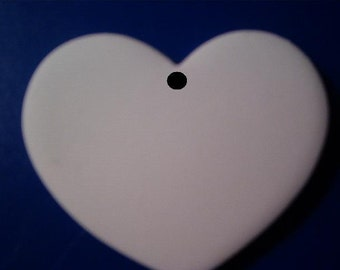 Heart Pendants Ornaments Jewelry 25 Blank Disc Ready for you to decorate Hand made in USA