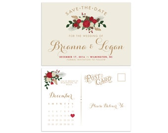 Save the Date // Wedding Save the Date // Winter wedding invitation // Christmas Wedding Invitation