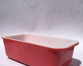 Vintage Flamingo Pink Rectangle Pyrex Dish