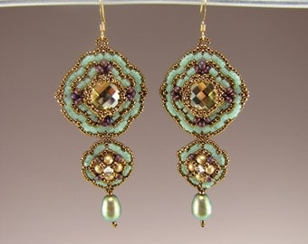Delicata Earrings - Downloadable PDF Pattern/Tutorial