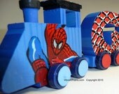 RESERVED Six Letter Spiderman Custom Name Train LAYTON