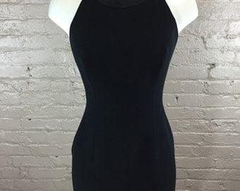 Vintage LBD Nackless Halter Dress
