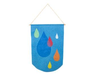 Raindrops Banner