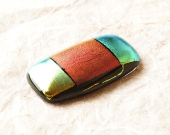 JuMBo Dichroic Fused Glass Focal Cab Bead Pendant Necklace