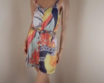 Charmeuse Satin 1970s dress. medium