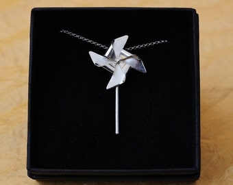 Large Pinwheel in sterling silver