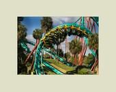 Kumba Steel Roller Coaster Busch Gardens 5x7 print with 8x10 mat