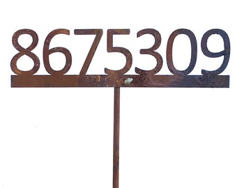 8675309 Metal Garden Stake-Never Forget-Home and Garden Decor- Free Shipping!