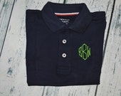 Toddler Youth SHORT SLEEVE Monogrammed Polo Shirt Personalized School Uniform