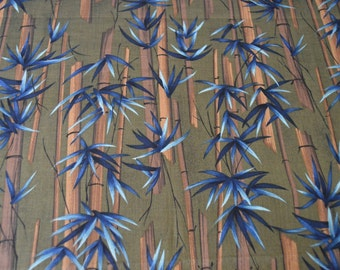 Store Closing - See Shop Announcement - Artists Collection for Kings Road - Bamboo Printed Fabric - 100% Cotton - 26 inches x 44 inches