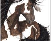 Majestic Dream Horse Spirit Feathers - Fine ArT Prints by Bihrle mm146