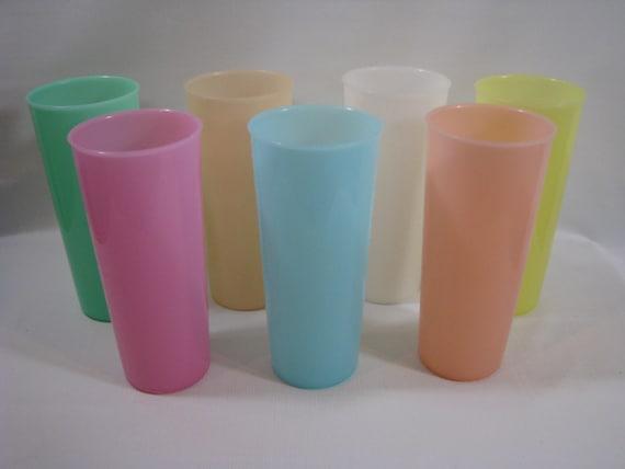 tupperware pastel 107 16 oz tumbler cup drinking glasses. Black Bedroom Furniture Sets. Home Design Ideas