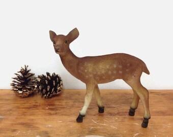 Vintage Flocked Deer Figurine - Parma AAI Japan