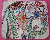 Elephant Mouse Pad mousepad / Mat - Rectangle - Pretty Elephant - coworker gift, teacher gift, desk  accessories cubical decor