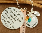 ON SALE Hand Stamped Necklace, Don't Grieve,  Personalized Jewelry,  Keepsake Necklace, Name Jewelry, Gift Idea, Remembrance