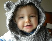 The Trending Baylie Bear Hooded Cowl for Infants, Toddler, Children, Adults Photo Prop