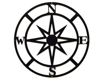 Compass Metal Wall Art - Free USA Shipping
