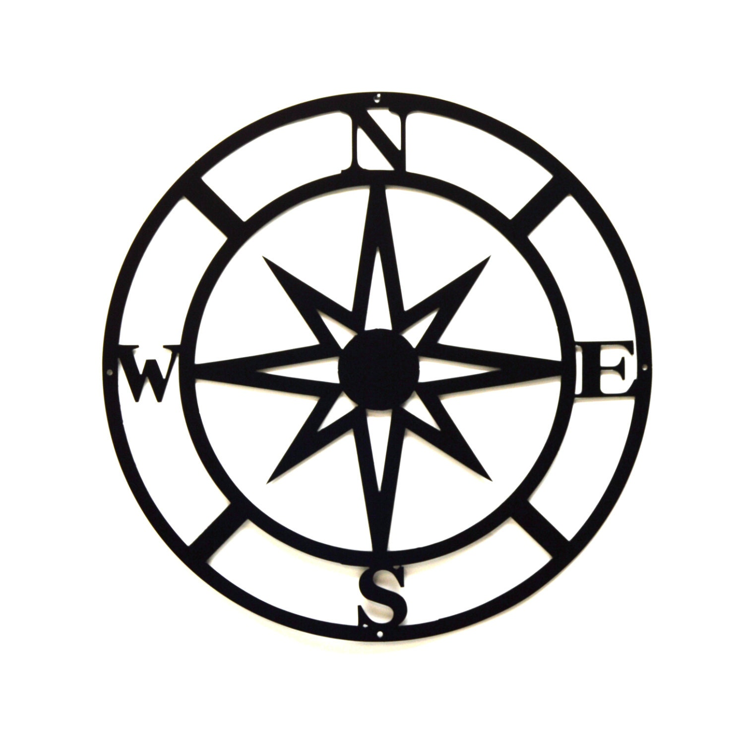 Compass Metal Wall Art Free USA Shipping