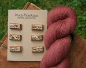 6 Sassafras Toggle Buttons- Wood Toggle Buttons- Wood- Knitting, Sewing, Craft Buttons- Eco Craft Supplies- Knitting Supplies