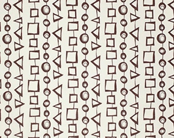 Free Spirit David Walker PWDW108 Jeans & Things - Stripe Shapes - Brown
