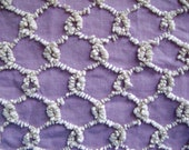 Cabin Crafts Sweet Lavender Chainlink Overtufted Vintage Cotton Chenille 19 x 21 Inches
