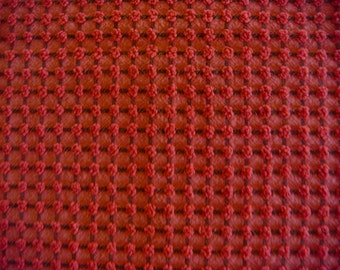 Gorgeous Morgan Jones Red and Black Pops Vintage Cotton Chenille Fabric 12 x 24 Inches