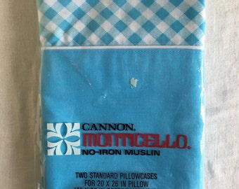 Vintage canon pillowcase set / new in plastic / nos