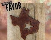 Texas Wedding Favor Rusty Ornament by WATTO Distinctive Metal Wear, Texas Wedding Decor, Rusty Metal Ornament