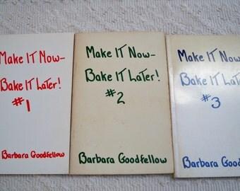 """Vintage Book Cookbook Set """"Make It Now Bake It Later"""" 1950 - 60"""