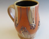 Salt Glazed Dark Fish Zipper Mug