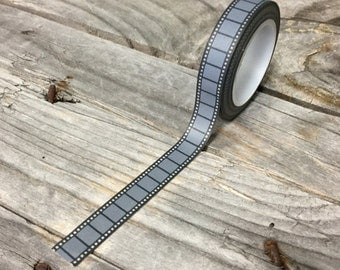 Washi Tape - 10mm - Grey Film Strip - Deco Paper Tape No. 1119