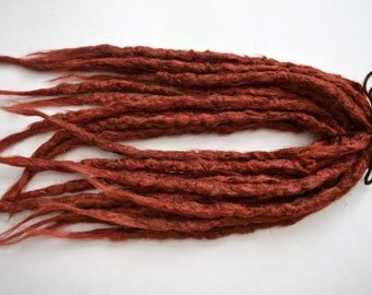 12 Red Double Ended Synthetic dreads, dreadlocks, dreads, synthetic dreadlocks, dreadlock extensions, dread, hair extensions. Red dreadlocks